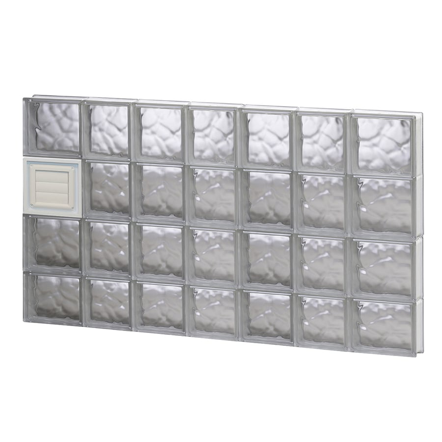 REDI2SET Wavy Glass Pattern Frameless Replacement Glass Block Window (Rough Opening: 46-in x 30-in; Actual: 44.25-in x 29-in)