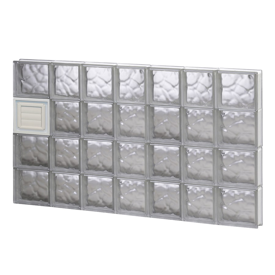 REDI2SET Wavy Glass Pattern Frameless Replacement Glass Block Window (Rough Opening: 46-in x 32-in; Actual: 44.25-in x 31-in)