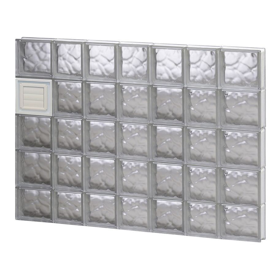 REDI2SET Wavy Glass Pattern Frameless Replacement Glass Block Window (Rough Opening: 46-in x 38-in; Actual: 44.25-in x 36.75-in)