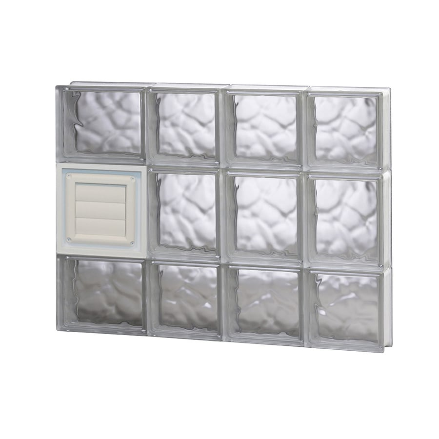 REDI2SET Wavy Glass Pattern Frameless Replacement Glass Block Window (Rough Opening: 26-in x 20-in; Actual: 25-in x 19.25-in)