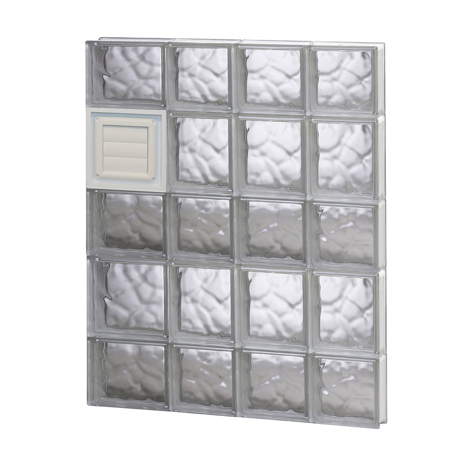 REDI2SET Wavy Glass Pattern Frameless Replacement Glass Block Window (Rough Opening: 26-in x 34-in; Actual: 25-in x 32.75-in)