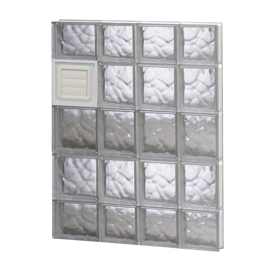 REDI2SET Wavy Glass Pattern Frameless Replacement Glass Block Window (Rough Opening: 26-in x 36-in; Actual: 25-in x 34.75-in)