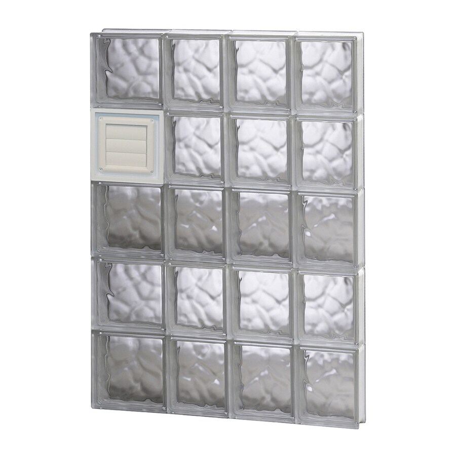 REDI2SET Wavy Glass Pattern Frameless Replacement Glass Block Window (Rough Opening: 26-in x 40-in; Actual: 25-in x 38.75-in)
