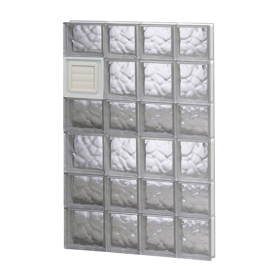 REDI2SET Wavy Pattern Frameless Replacement Glass Block Window (Rough Opening: 26-in x 42-in; Actual: 25-in x 40.5-in)
