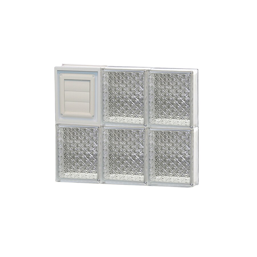 REDI2SET Diamond Glass Pattern Frameless Replacement Glass Block Window (Rough Opening: 18-in x 16-in; Actual: 17.25-in x 15.5-in)