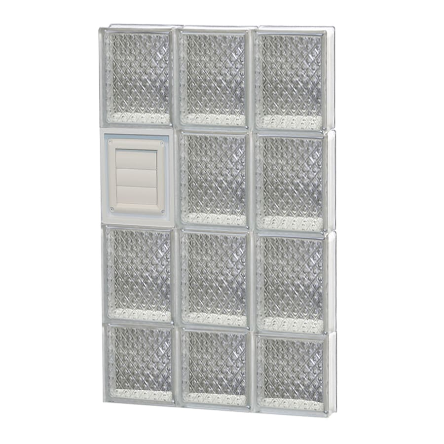 REDI2SET Diamond Glass Pattern Frameless Replacement Glass Block Window (Rough Opening: 18-in x 30-in; Actual: 17.2500-in x 29-in)