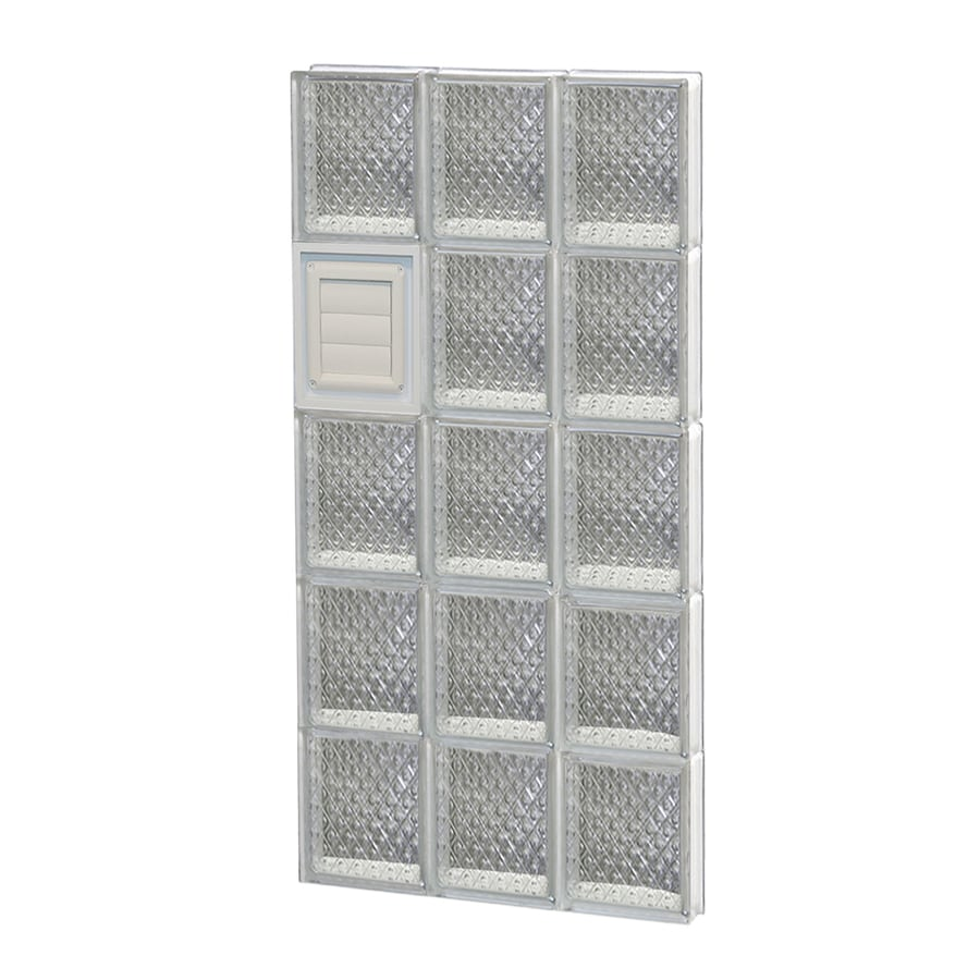 REDI2SET Diamond Glass Pattern Frameless Replacement Glass Block Window (Rough Opening: 18-in x 40-in; Actual: 17.25-in x 38.75-in)
