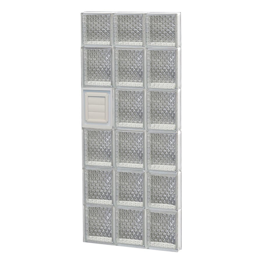 REDI2SET Diamond Glass Pattern Frameless Replacement Glass Block Window (Rough Opening: 18-in x 46-in; Actual: 17.25-in x 44.5-in)