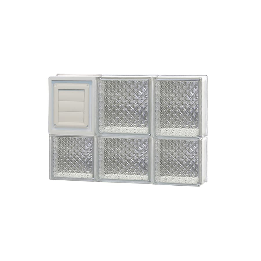 REDI2SET Diamond Glass Pattern Frameless Replacement Glass Block Window (Rough Opening: 20-in x 14-in; Actual: 19.25-in x 13.5-in)