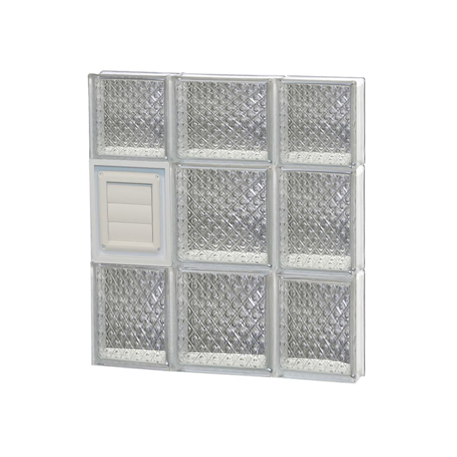 REDI2SET Diamond Glass Pattern Frameless Replacement Glass Block Window (Rough Opening: 20-in x 22-in; Actual: 19.25-in x 21.25-in)