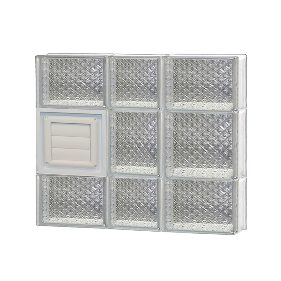 REDI2SET Diamond Glass Pattern Frameless Replacement Glass Block Window (Rough Opening: 22-in x 20-in; Actual: 21.25-in x 19.25-in)