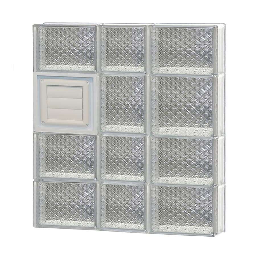 REDI2SET Diamond Glass Pattern Frameless Replacement Glass Block Window (Rough Opening: 22-in x 26-in; Actual: 21.25-in x 25-in)