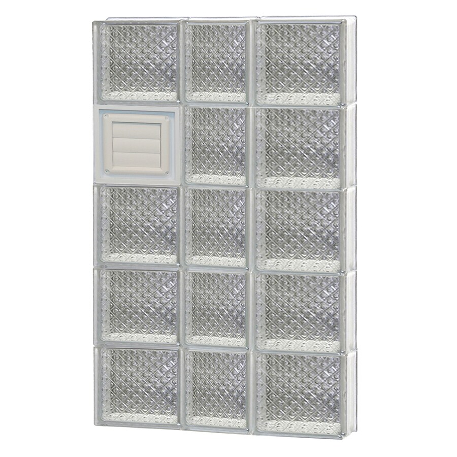 REDI2SET Diamond Glass Pattern Frameless Replacement Glass Block Window (Rough Opening: 22-in x 40-in; Actual: 21.25-in x 38.75-in)