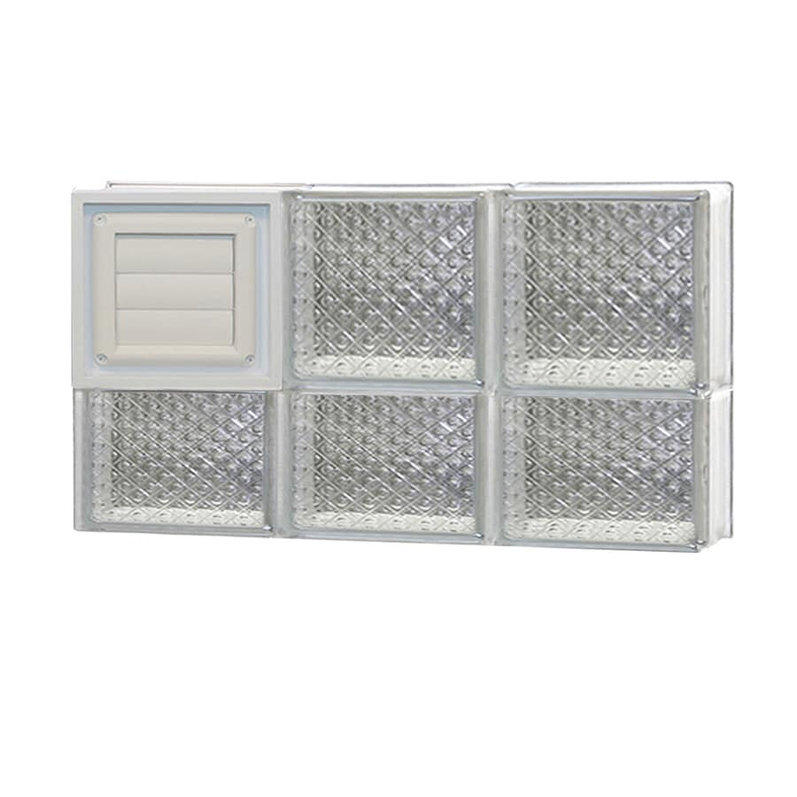 REDI2SET Diamond Glass Pattern Frameless Replacement Glass Block Window (Rough Opening: 24-in x 14-in; Actual: 23.25-in x 13.5-in)