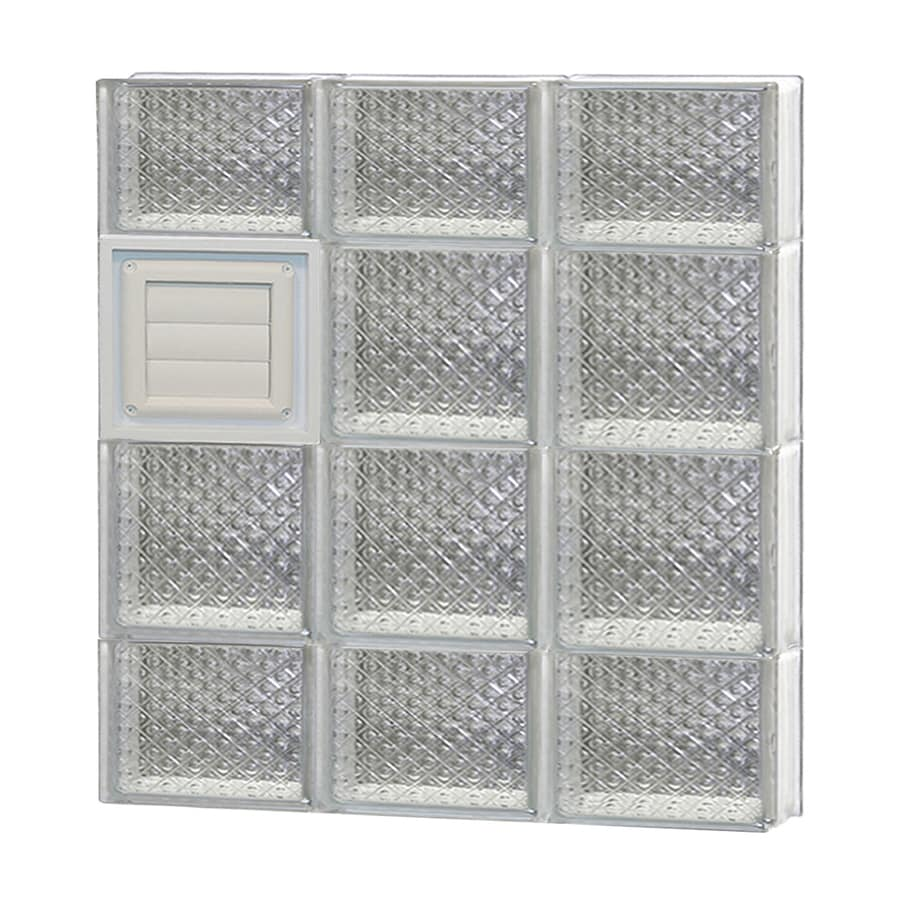 REDI2SET Diamond Glass Pattern Frameless Replacement Glass Block Window (Rough Opening: 24-in x 28-in; Actual: 23.25-in x 27-in)