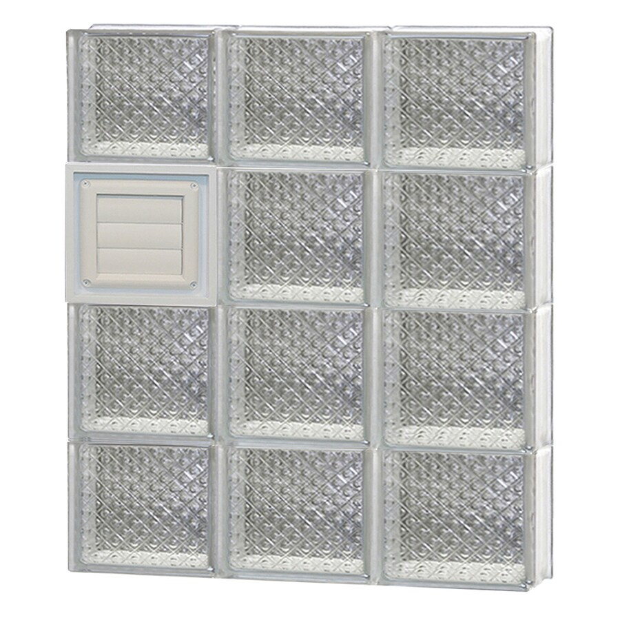 REDI2SET Diamond Glass Pattern Frameless Replacement Glass Block Window (Rough Opening: 24-in x 32-in; Actual: 23.25-in x 31-in)