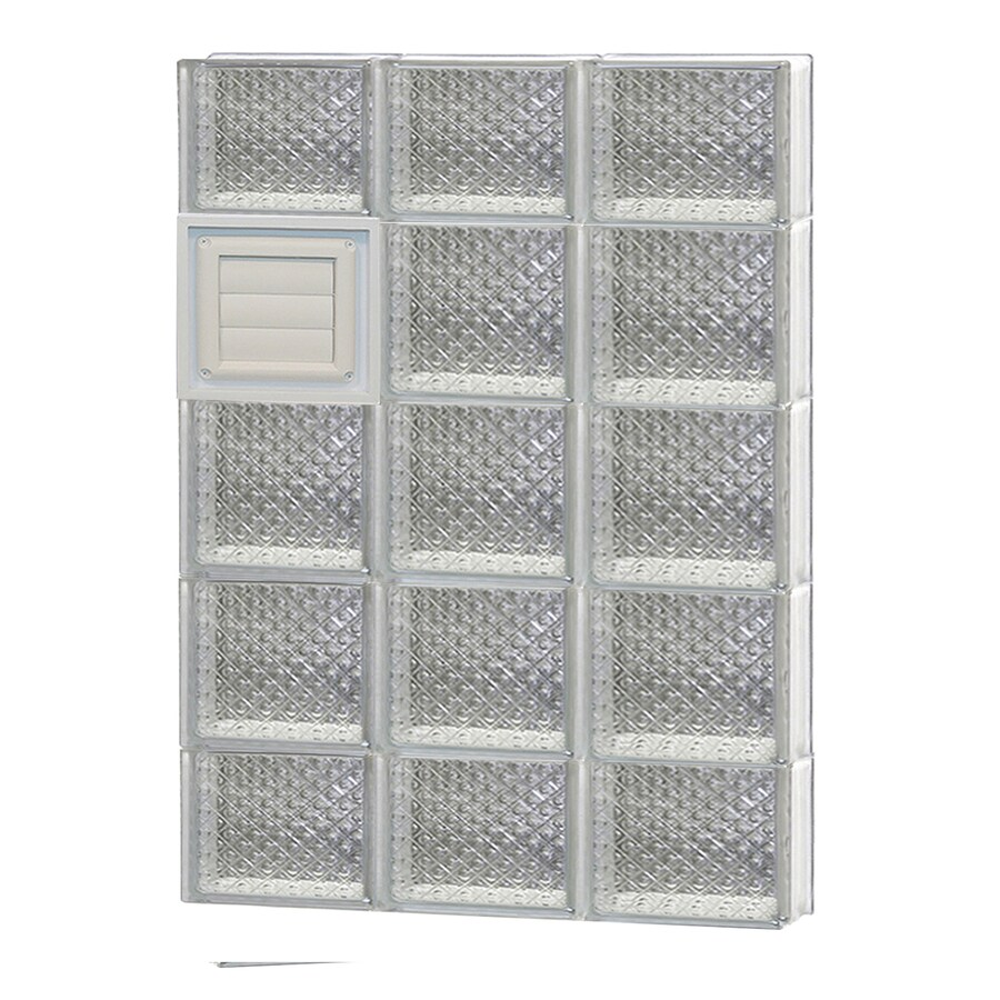 REDI2SET Diamond Glass Pattern Frameless Replacement Glass Block Window (Rough Opening: 24-in x 36-in; Actual: 23.25-in x 34.75-in)