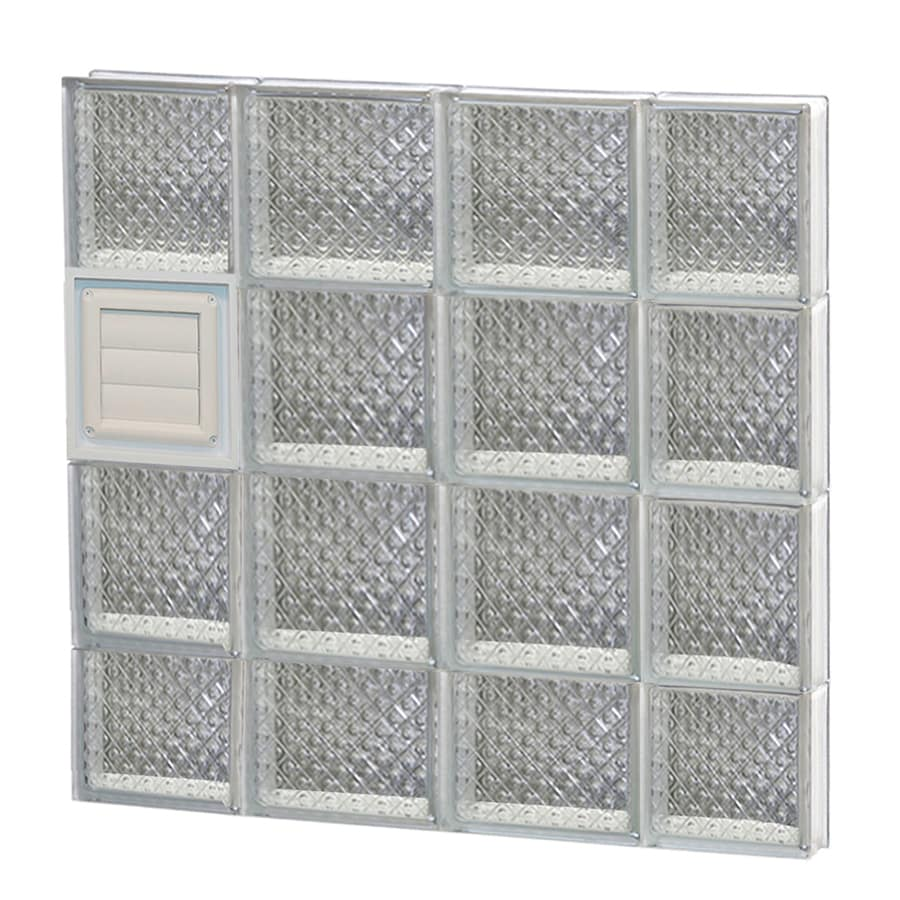 REDI2SET Diamond Pattern Frameless Replacement Glass Block Window (Rough Opening: 28-in x 30-in; Actual: 27-in x 29-in)
