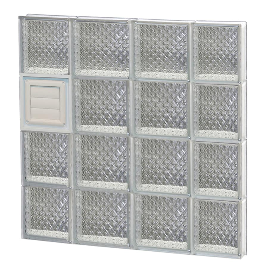 REDI2SET Diamond Glass Pattern Frameless Replacement Glass Block Window (Rough Opening: 28-in x 32-in; Actual: 27-in x 31-in)