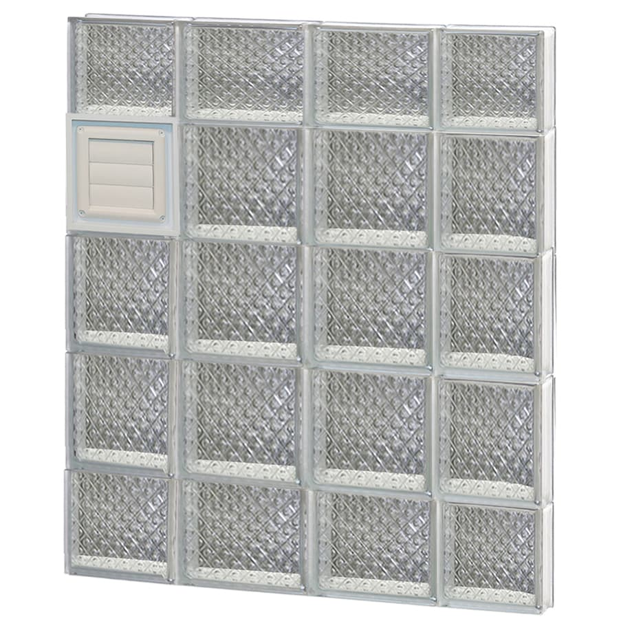 REDI2SET Diamond Glass Pattern Frameless Replacement Glass Block Window (Rough Opening: 28-in x 36-in; Actual: 27-in x 34.75-in)