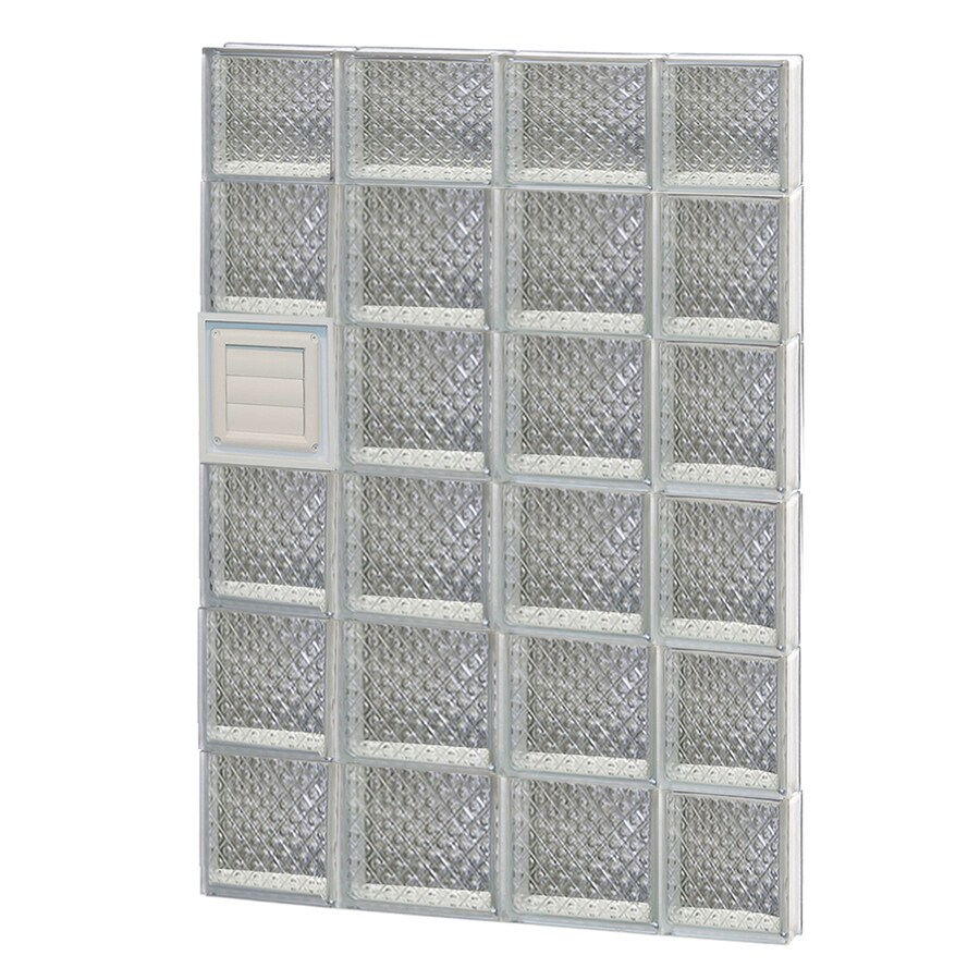 REDI2SET Diamond Glass Pattern Frameless Replacement Glass Block Window (Rough Opening: 28-in x 46-in; Actual: 27-in x 44.5-in)