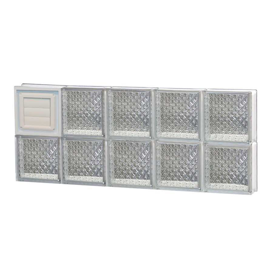 REDI2SET Diamond Pattern Frameless Replacement Glass Block Window (Rough Opening: 30-in x 12-in; Actual: 28.75-in x 11.5-in)