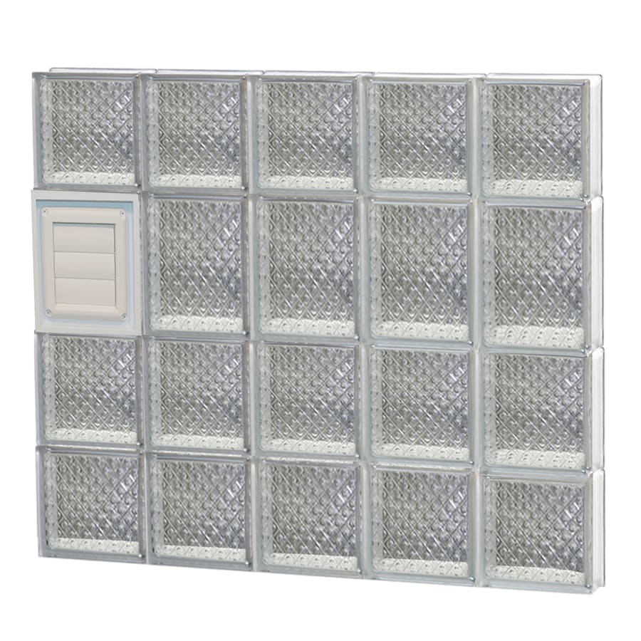 REDI2SET Diamond Glass Pattern Frameless Replacement Glass Block Window (Rough Opening: 30-in x 26-in; Actual: 28.75-in x 25-in)