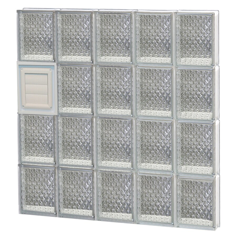 REDI2SET Diamond Glass Pattern Frameless Replacement Glass Block Window (Rough Opening: 30-in x 32-in; Actual: 28.75-in x 31-in)