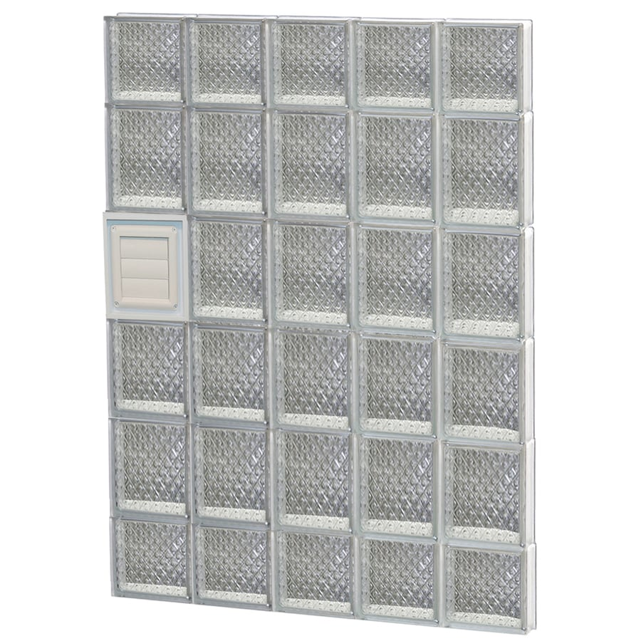 REDI2SET Diamond Glass Pattern Frameless Replacement Glass Block Window (Rough Opening: 30-in x 44-in; Actual: 28.75-in x 42.5-in)