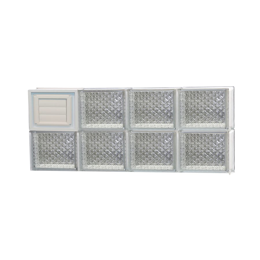 REDI2SET Diamond Glass Pattern Frameless Replacement Glass Block Window (Rough Opening: 32-in x 12-in; Actual: 31-in x 11.5-in)