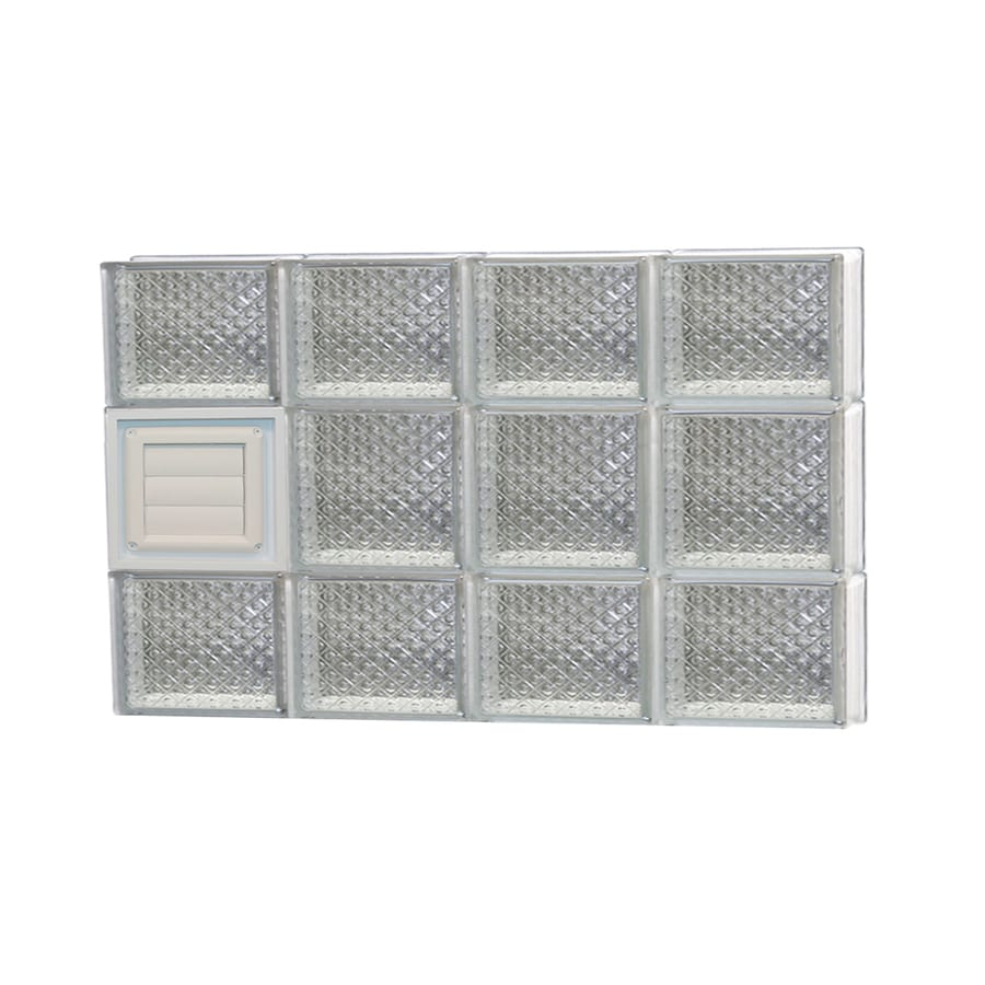 REDI2SET Diamond Glass Pattern Frameless Replacement Glass Block Window (Rough Opening: 32-in x 20-in; Actual: 31-in x 19.25-in)