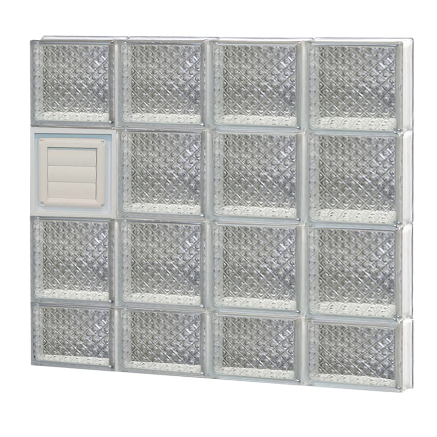 REDI2SET Diamond Glass Pattern Frameless Replacement Glass Block Window (Rough Opening: 32-in x 30-in; Actual: 31-in x 29-in)