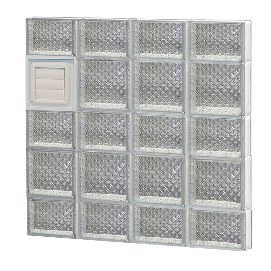 REDI2SET Diamond Glass Pattern Frameless Replacement Glass Block Window (Rough Opening: 32-in x 34-in; Actual: 31-in x 32.75-in)