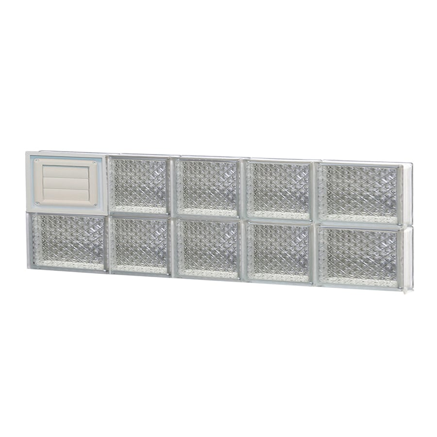 REDI2SET Diamond Pattern Frameless Replacement Glass Block Window (Rough Opening: 34-in x 12-in; Actual: 32.75-in x 11.5-in)