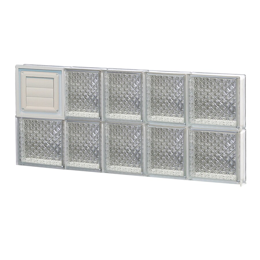 Shop redi2set diamond glass pattern frameless replacement for Pre assembled glass block windows