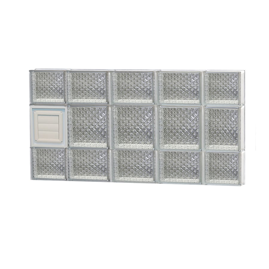 REDI2SET Diamond Pattern Frameless Replacement Glass Block Window (Rough Opening: 36-in x 20-in; Actual: 34.75-in x 19.25-in)