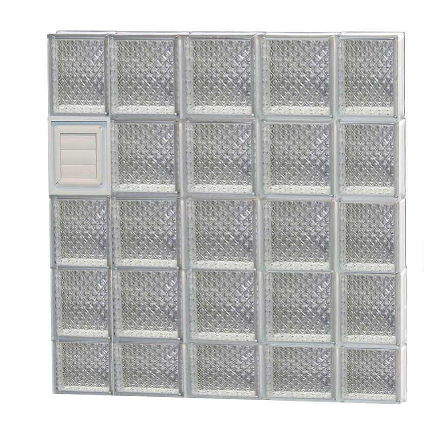 REDI2SET Diamond Pattern Frameless Replacement Glass Block Window (Rough Opening: 36-in x 38-in; Actual: 34.75-in x 36.75-in)