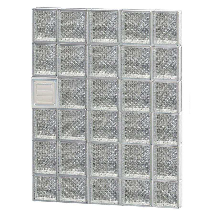 REDI2SET Diamond Pattern Frameless Replacement Glass Block Window (Rough Opening: 36-in x 46-in; Actual: 34.75-in x 44.5-in)