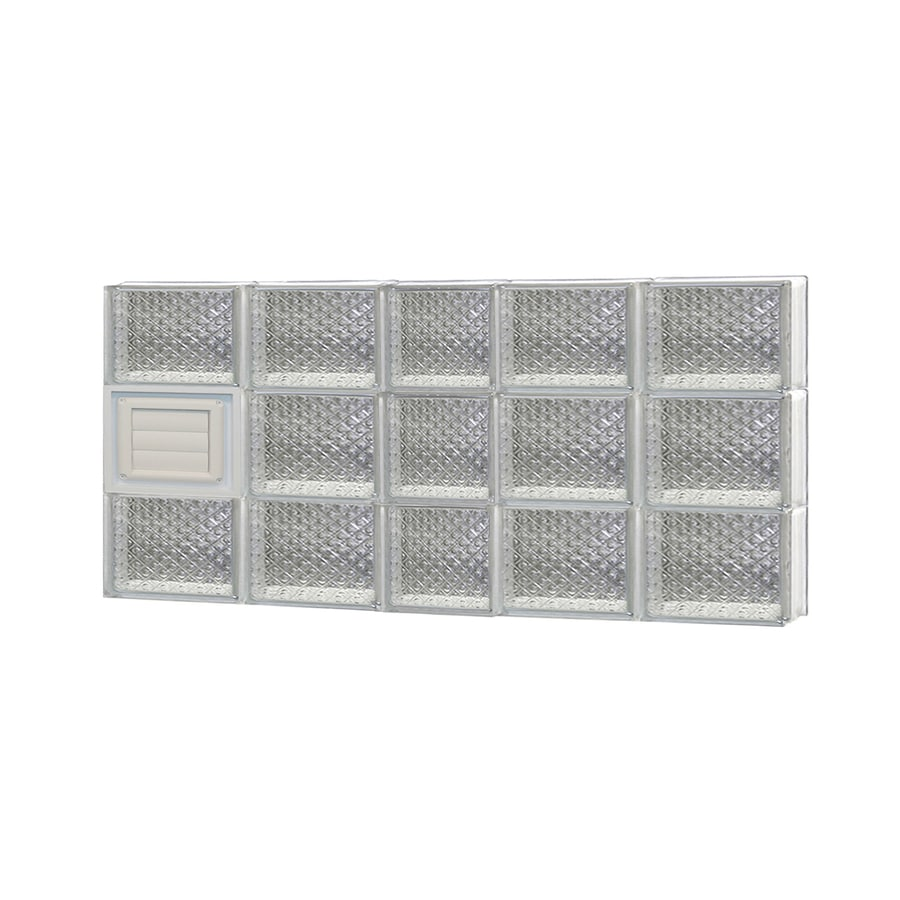 REDI2SET Diamond Glass Pattern Frameless Replacement Glass Block Window (Rough Opening: 38-in x 18-in; Actual: 36.75-in x 17.25-in)