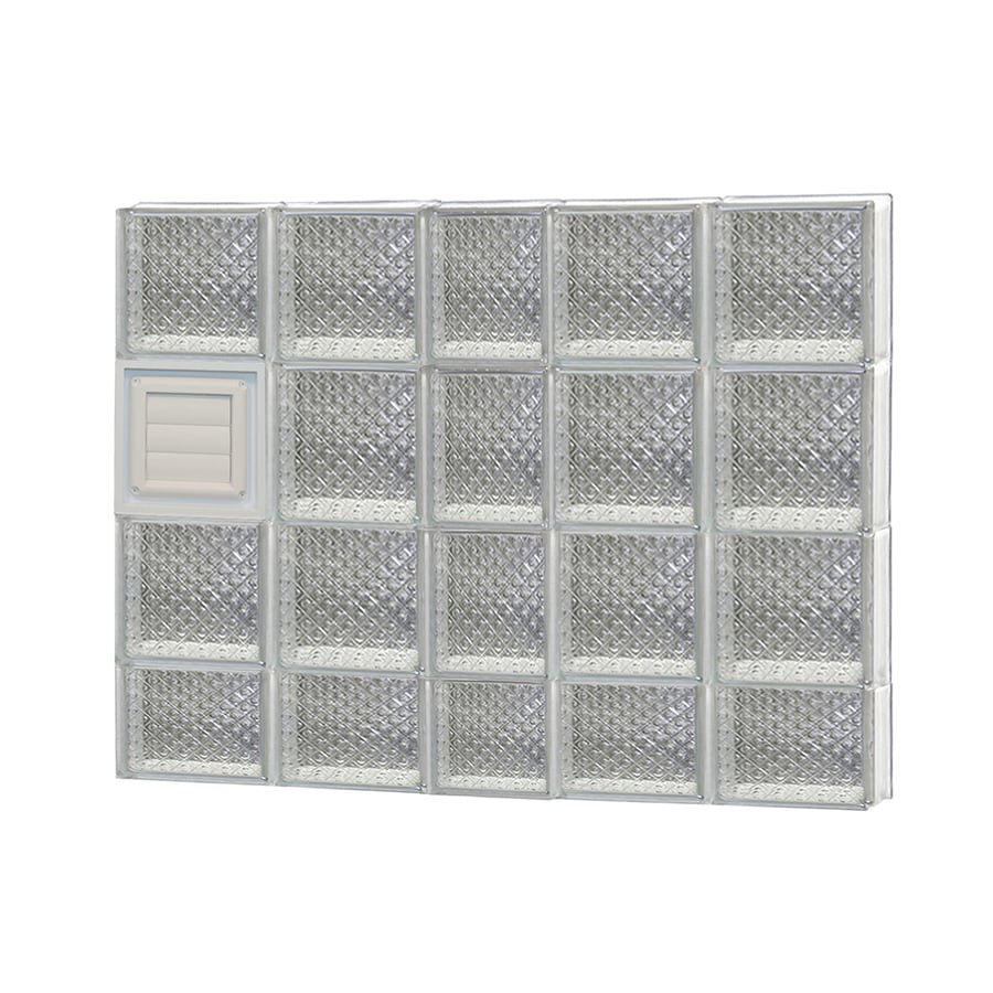 REDI2SET Diamond Pattern Frameless Replacement Glass Block Window (Rough Opening: 38-in x 30-in; Actual: 36.75-in x 29-in)