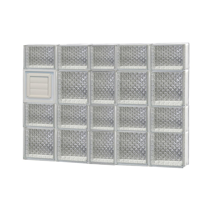 REDI2SET Diamond Glass Pattern Frameless Replacement Glass Block Window (Rough Opening: 38-in x 34-in; Actual: 36.75-in x 32.75-in)