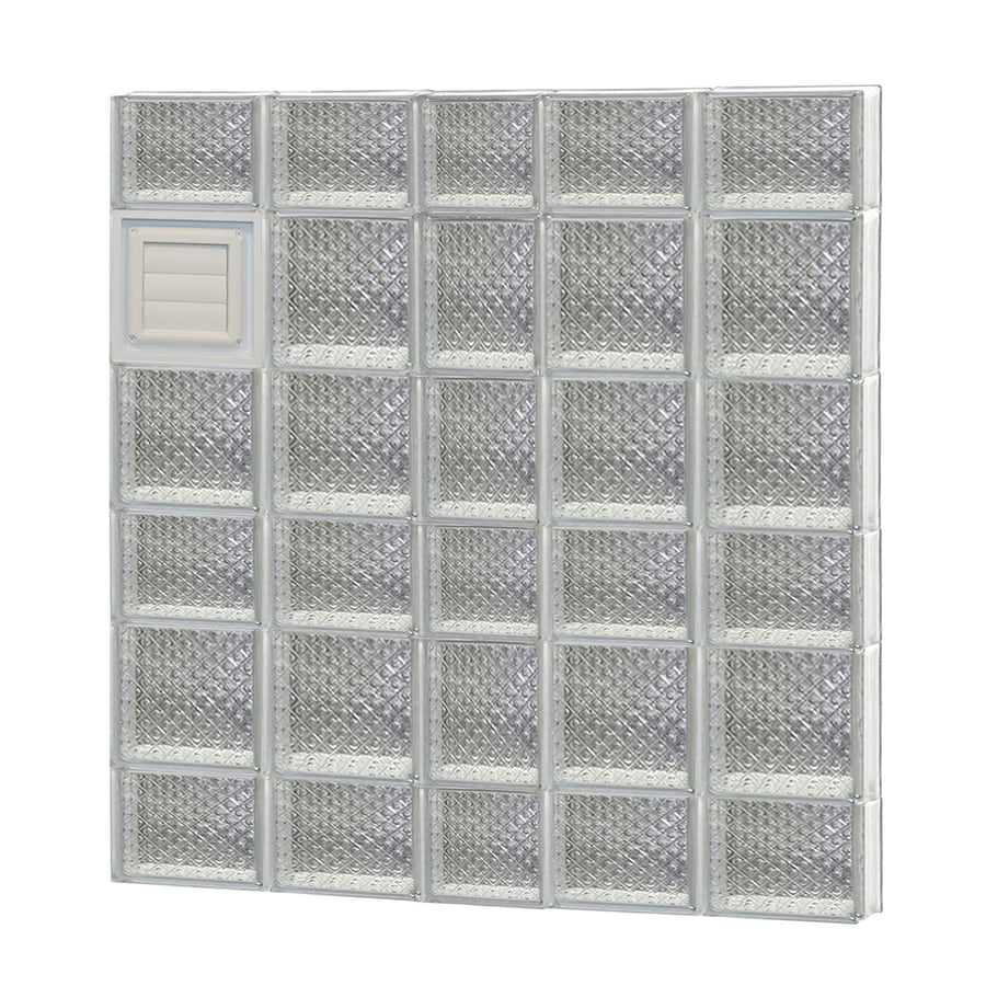 REDI2SET Diamond Pattern Frameless Replacement Glass Block Window (Rough Opening: 38-in x 42-in; Actual: 36.75-in x 40.5-in)