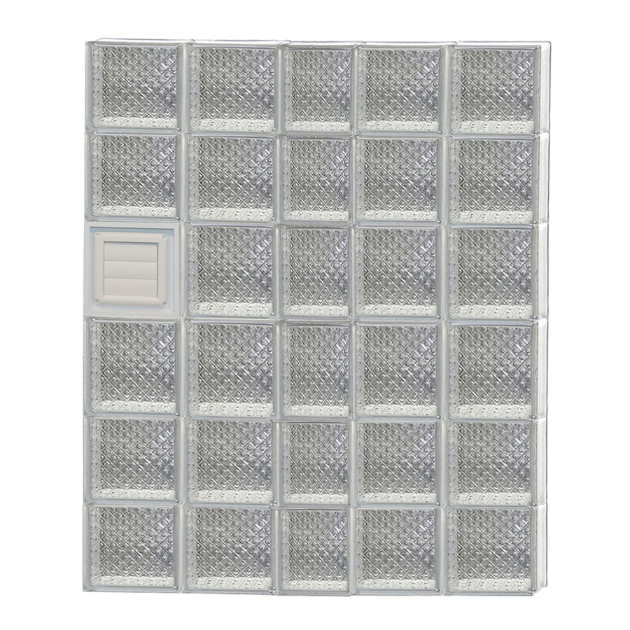 REDI2SET Diamond Glass Pattern Frameless Replacement Glass Block Window (Rough Opening: 38-in x 48-in; Actual: 36.75-in x 46.5-in)