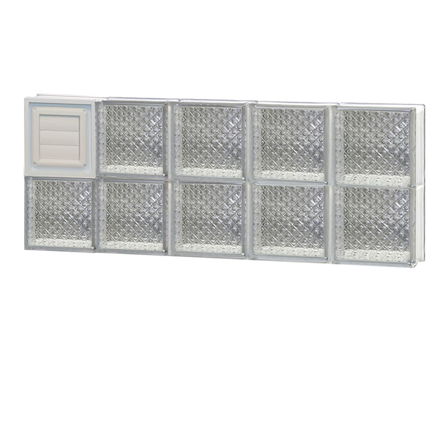 REDI2SET Diamond Glass Pattern Frameless Replacement Glass Block Window (Rough Opening: 40-in x 16-in; Actual: 38.75-in x 15.5-in)