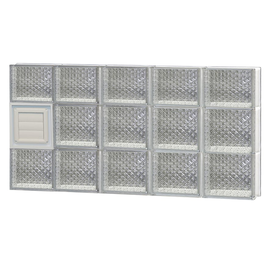 REDI2SET Diamond Glass Pattern Frameless Replacement Glass Block Window (Rough Opening: 40-in x 22-in; Actual: 38.75-in x 21.25-in)