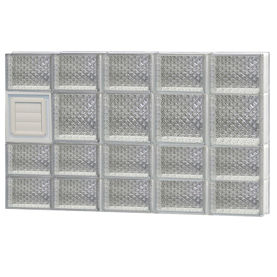 REDI2SET Diamond Pattern Frameless Replacement Glass Block Window (Rough Opening: 40-in x 26-in; Actual: 38.75-in x 25-in)