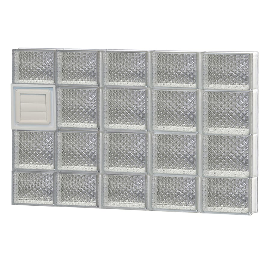 REDI2SET Diamond Glass Pattern Frameless Replacement Glass Block Window (Rough Opening: 40-in x 28-in; Actual: 38.7500-in x 27-in)