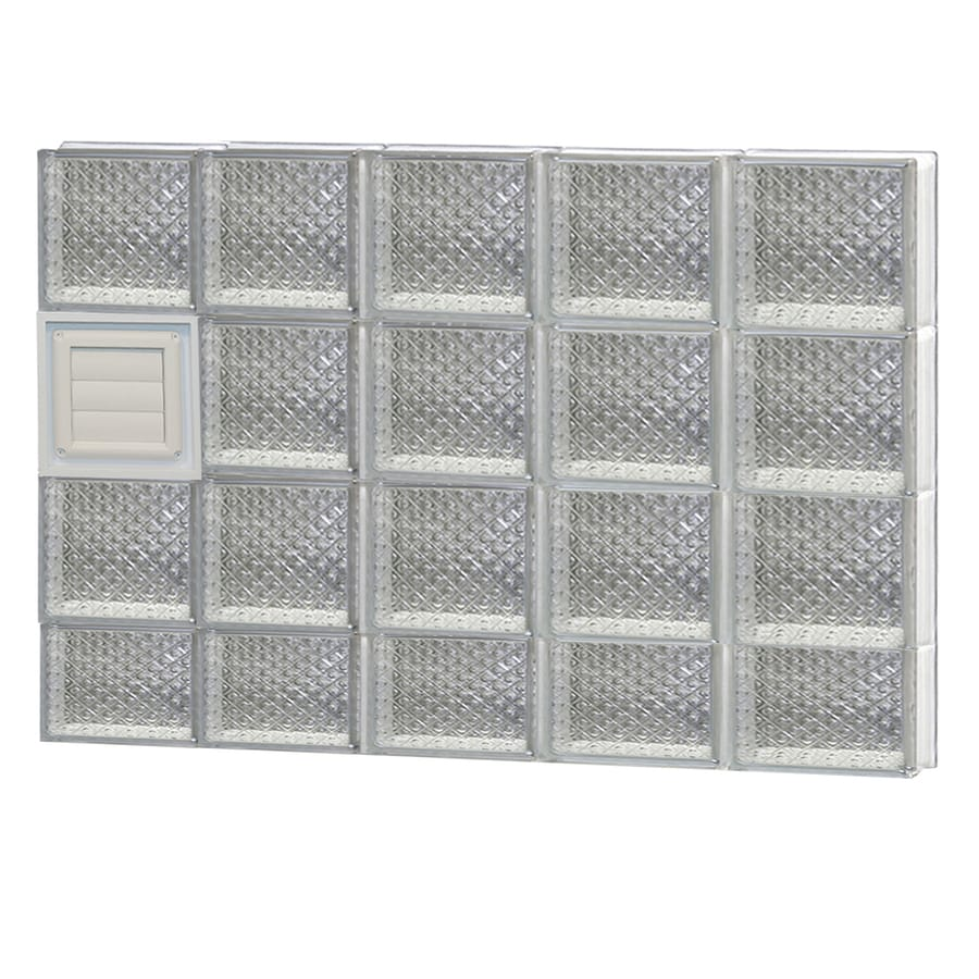 REDI2SET Diamond Glass Pattern Frameless Replacement Glass Block Window (Rough Opening: 40-in x 30-in; Actual: 38.75-in x 29-in)