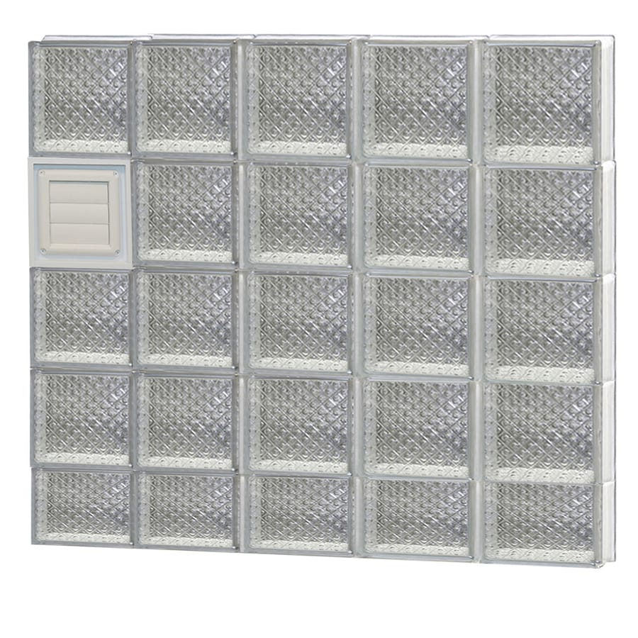 REDI2SET Diamond Pattern Frameless Replacement Glass Block Window (Rough Opening: 40-in x 38-in; Actual: 38.75-in x 36.75-in)