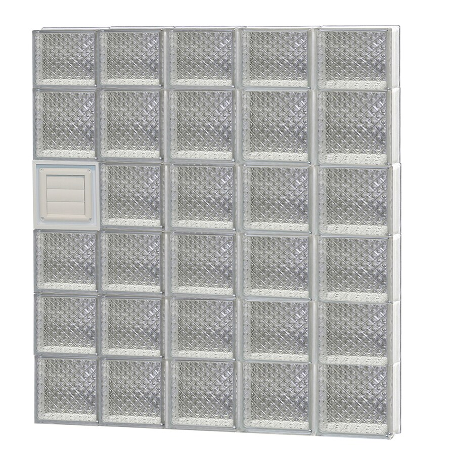 REDI2SET Diamond Pattern Frameless Replacement Glass Block Window (Rough Opening: 40-in x 46-in; Actual: 38.75-in x 44.5-in)